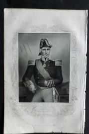 Tyrrell 1858 Antique Crimea Print. Admiral Sir Edmund Lyons